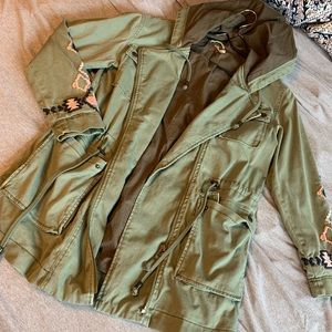 Free People Embroidered Parka